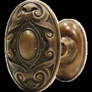 "Antique ""Meridian"" Door Knob Set by Yale & Towne, c.1910"