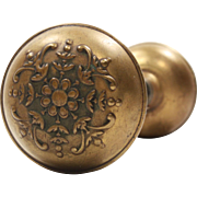 "Antique ""Argyle"" Door Knob Set by Norwalk, c.1900"