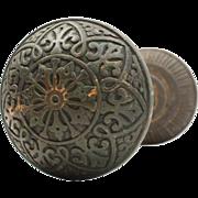 Antique Eastlake Doorknob Set by Hopkins & Dickinson, c. 1879