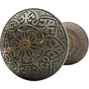 Antique Eastlake Doorknob Set by Hopkins & Dickinson, c. 1879