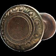 Antique Egg-and-Dart Cast Iron Doorknob Sets