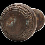 Antique Cast Iron Egg-and-Dart Doorknob Sets