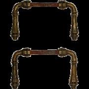 Antique Brass Door Lever Sets, c. 1920's