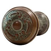 """Antique Bronze """"Haven"""" Door Knob Sets by Sargent, c.1900"""