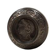 "Antique ""Lady"" Figural Cast Iron Knob, c.1875"