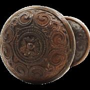 Antique Neoclassical Doorknob Set by Corbin, c.1875
