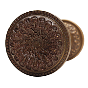 "Antique ""Elaine"" Doorknob Set by Reading Hardware, c. 1895"