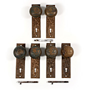 "Remarkable Antique ""Broken Leaf"" by Lockwood Door Hardware Sets, Cast Bronze – ONE AVAILABLE"