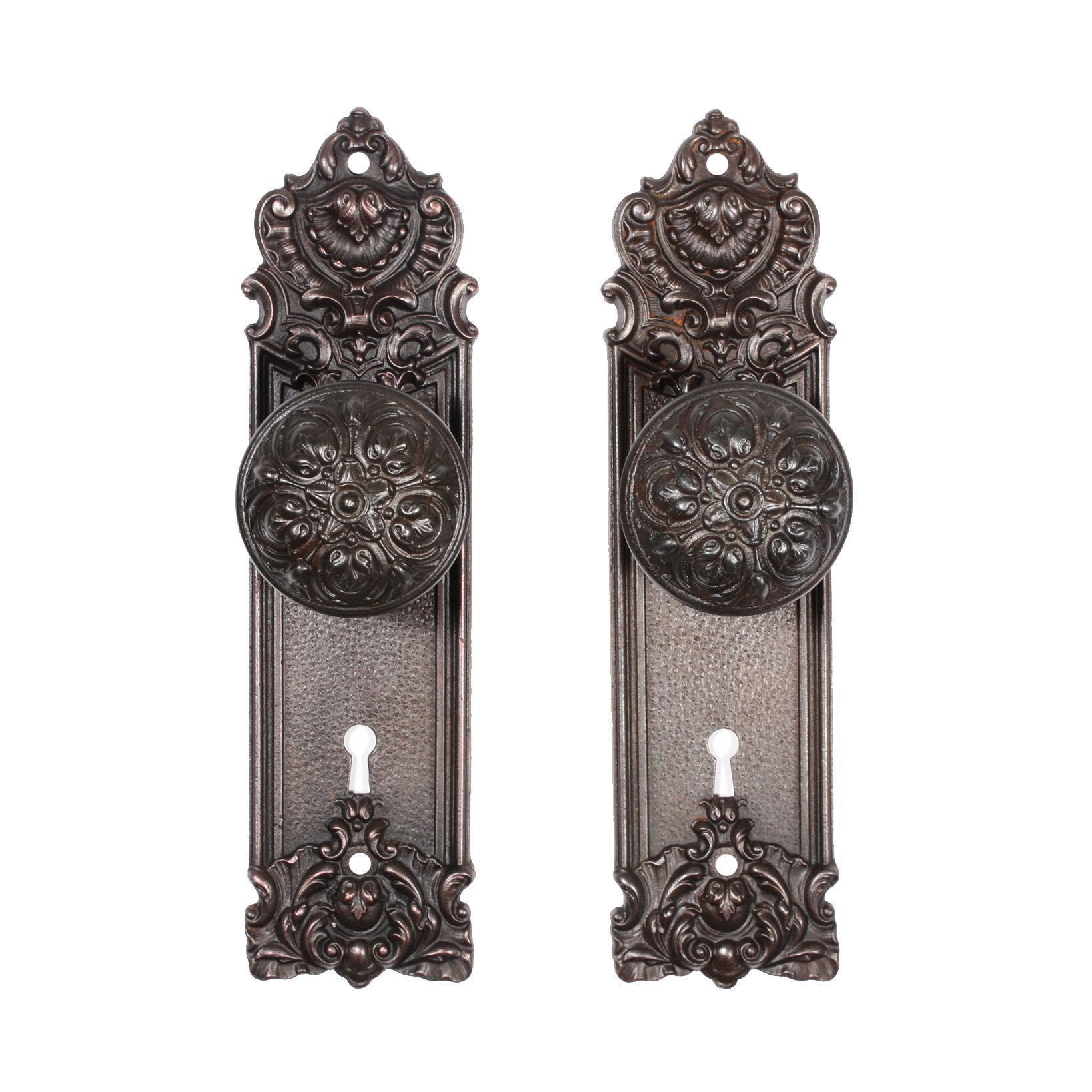 "Antique Cast Iron ""Pasco"" Door Hardware Sets by Yale & Towne, c. 1905"