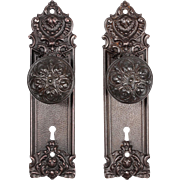 "Antique Cast Iron ""Pasco"" Door Hardware Sets by Yale & Towne, c. 1905"
