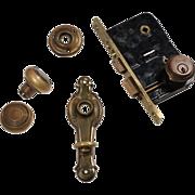 """Matching Antique Door Hardware Sets by Russwin """"Cleo"""" c. 1930"""