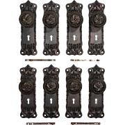 Splendid Antique Cast Iron Door Hardware Sets, Early 1900s