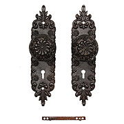 Antique Eastlake Cast Iron Door Hardware Set, c.1890