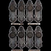 Antique Cast Iron Door Hardware Sets by Lockwood, c. 1910