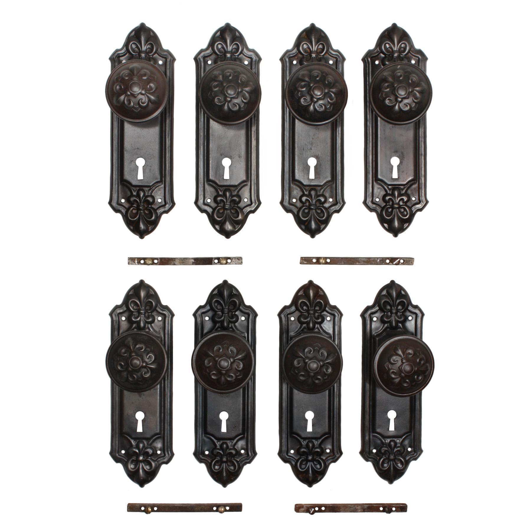 "Antique Fleur-de-Lis Door Hardware Sets, ""Fleuroy"" by Reading Hardware"