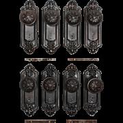 """Antique Fleur-de-Lis Door Hardware Sets, """"Fleuroy"""" by Reading Hardware"""