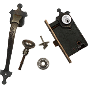 Complete Antique Thumb Latch Set with Lock