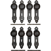 Antique Art Deco Doorknob Sets with Backplates