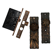 Antique Art Nouveau Complete Door Hardware Set by Russell and Erwin, c. 1891
