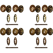 Antique Brass Hardware Sets with Matching Escutcheons
