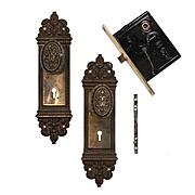 "Antique ""Altena"" Complete Door Hardware Set by Reading Hardware, c. 1910"