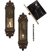 "Antique ""Altena"" Complete Door Hardware Set by Reading Hardware, c. 1910"