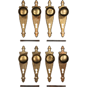 Antique Colonial Revival Door Hardware Sets in Brass, c.1910s