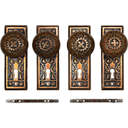 "Antique ""Magnolia"" Door Hardware Sets by Penn Hardware, c. 1907"