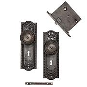 """Antique """"Como"""" Door Hardware Sets by Corbin, c. 1900"""