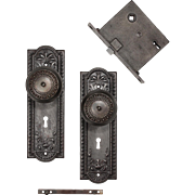 "Antique ""Como"" Door Hardware Sets by Corbin, c. 1900"