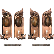 Antique Art Nouveau Door Hardware Sets by F.C. Linde