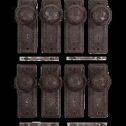 Antique Eastlake Doorknob Sets with Matching Backplates