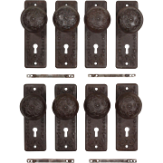 "Antique ""Vinca"" Door Hardware Sets by Reading, c.1900"