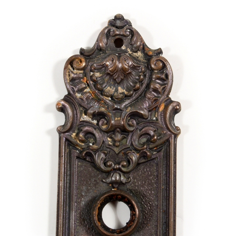 "Roll over Large image to magnify, click Large image to zoom - Antique Cast Iron Door Plates, ""Pasco"" By Yale Towne, C. 1905 From"