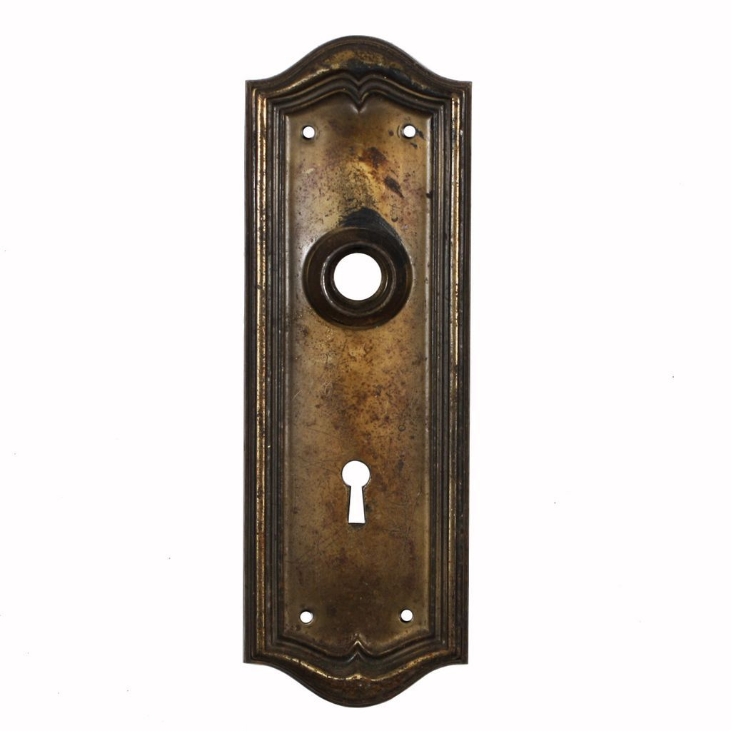 Superb Antique Door Backplates with Arches