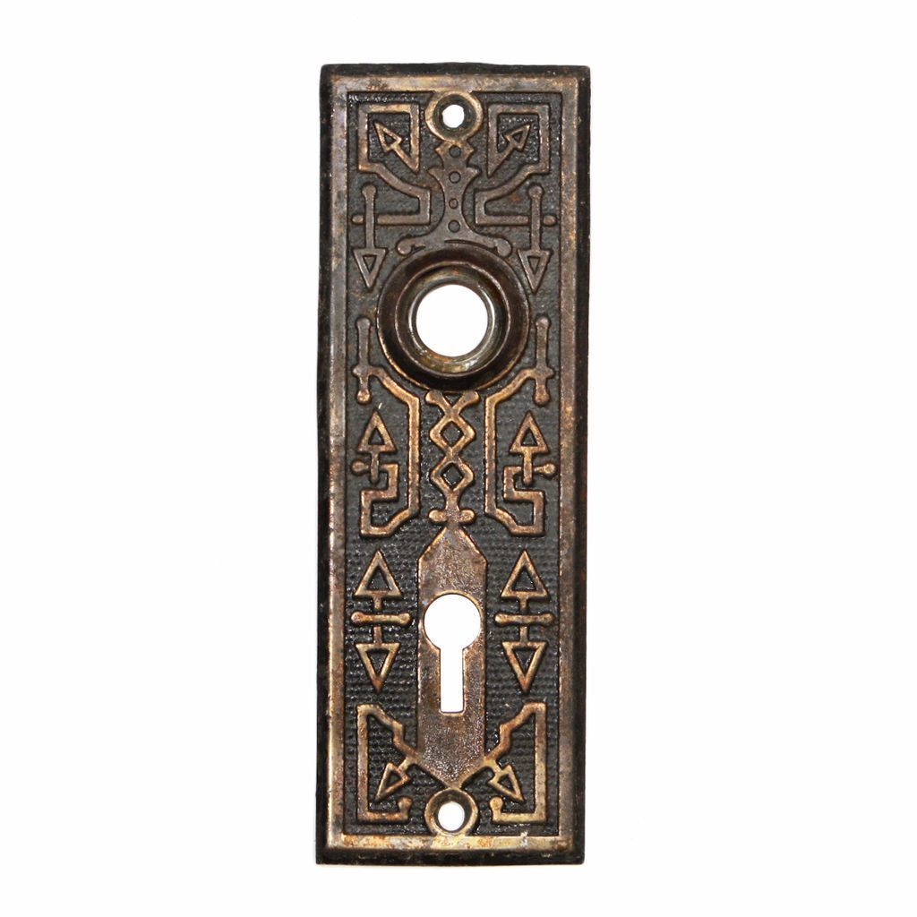 Playful Antique Door Plates with Geometric Design, c. 1880's