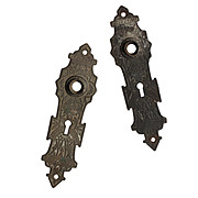 Extraordinary Pair of Antique Cast Bronze Eastlake Exterior Door Plates, c. 1880's