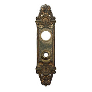 "Marvelous Antique Cast Bronze Entry Backplates, ""Fenmore"" by Reading c. 1910"