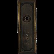 Understated Antique Door Backplates, Early 1900s