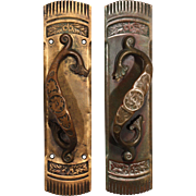 Fabulous Antique Cast Bronze Handles, Early 1900s