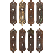 "Antique ""Westminster"" Cast Iron Door Plates by Reading, c.1910"