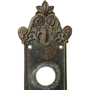 "Antique Entry Backplate, ""Avallon"" by Russell & Erwin, c. 1899"