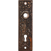 Antique Eastlake Cast Iron Door Plates, c.1890