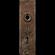 Antique Egyptian Revival Cast Iron Door Plates, c.1890