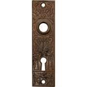 Antique Egyptian Revival Cast Iron Door Plates, c.1890