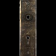 "Antique ""Windsor"" Doorplates by Reading Hardware, c. 1900"