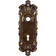 "Antique Brass ""Holland"" Door Plates by Corbin, c. 1905"