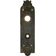 """Antique Entry Backplate, """"Marsala"""" by Reading Hardware, c. 1910"""