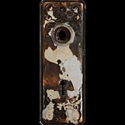 Antique Doorplates with Volutes, Late 19th Century