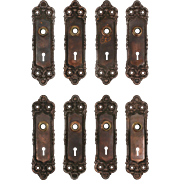 Antique Cast Iron Door Plates by Peterboro